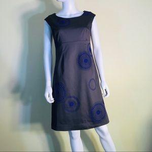 Boden Purple Flower Embroidered Shift Dress